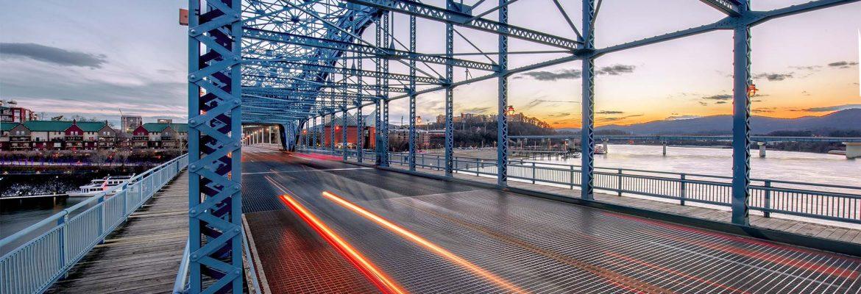 Dan Reynolds photo of bridge in downtown Chattanooga, TN