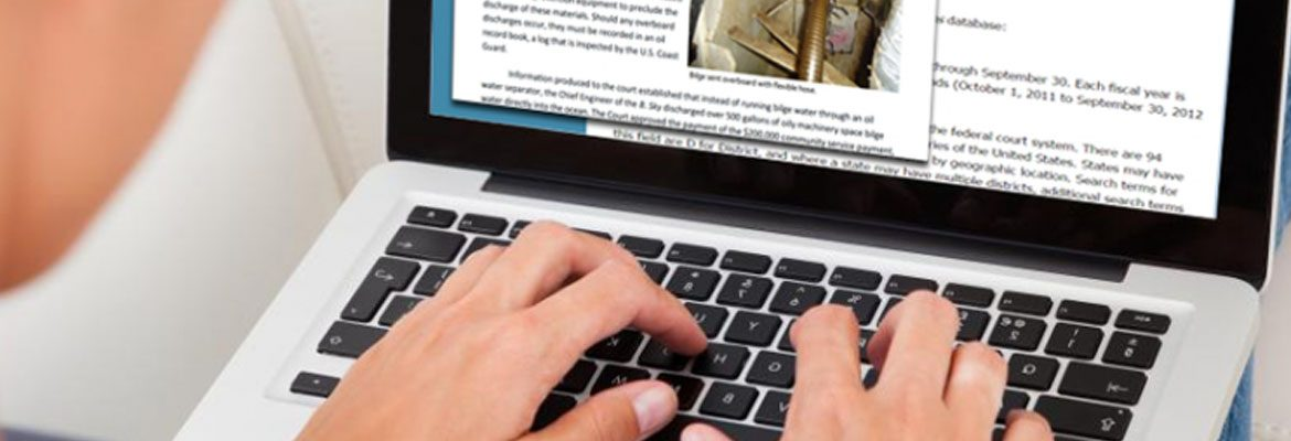 Graphic of a person typing on a laptop