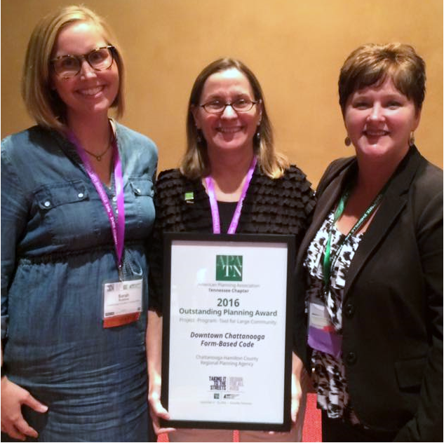 Tennessee Chapter of the American Planning Association Award for Project/Program/Tool for Large Community (2016)